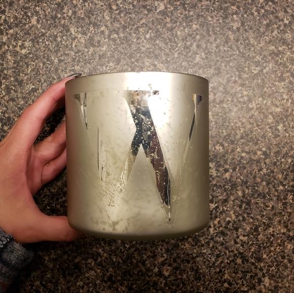 Alphabet Mercury Glass Scented Candles - W